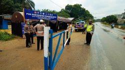 Larangan Mudik Makin Ketat, Polda Riau Bangun Portal Perbatasan Riau-Sumatera Utara
